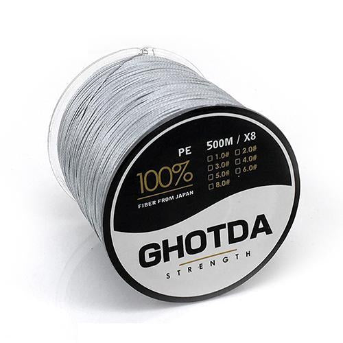 500M 8 Strands Fishing Line Multifilament Pe Line 8 Weaves Strong Braided Wire-HD Outdoor Equipment Store-Grey-1.0-Bargain Bait Box