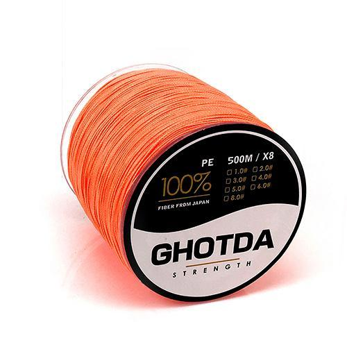 500M 8 Strands Fishing Line Multifilament Pe Line 8 Weaves Strong Braided Wire-HD Outdoor Equipment Store-Orange-1.0-Bargain Bait Box