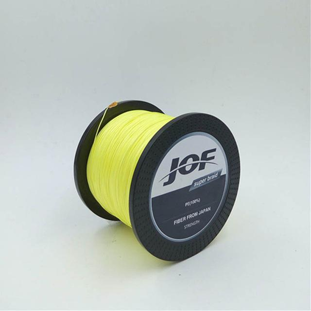 500M 8 Strands Fishing Super Strong Japan Multifilament Pe Braided Fishing-Mr. Fish Store-Yellow-0.6-Bargain Bait Box