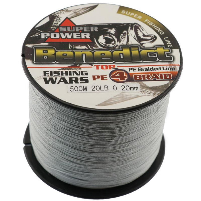 500M Brand 4Strands Japan Multifilament 100% Pe Super Strong Braided Fishing-ASCON FISH Official Store-0.4-Bargain Bait Box