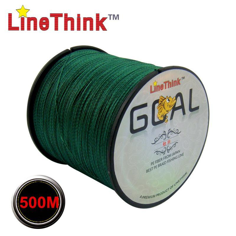500M Brand Linethink Goal Japan Multifilament 100% Pe Braided Fishing Line 6Lb-LINETHINK official store-White-0.4-Bargain Bait Box
