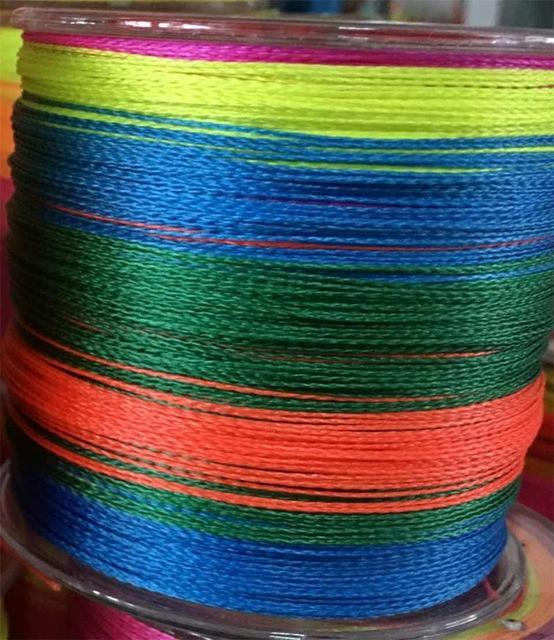 500M Fishing Super Strong Japan Multifilament Pe Braided Fishing Line 8-GobyGo Store-Multi with Green-0.6-Bargain Bait Box