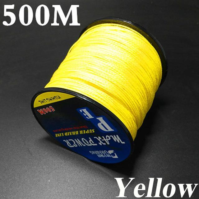 500M Germen Quality Max Power Series 4 Strands Super Strong Japan-ACEXPNM Angler & Cyclist's Store-Yellow-0.4-Bargain Bait Box