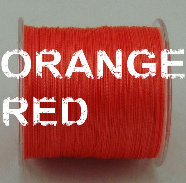 500M Linethink Multifilament Pe Braided Fishing Line 6Lb To 120Lb-LINETHINK official store-Orange-0.4-Bargain Bait Box