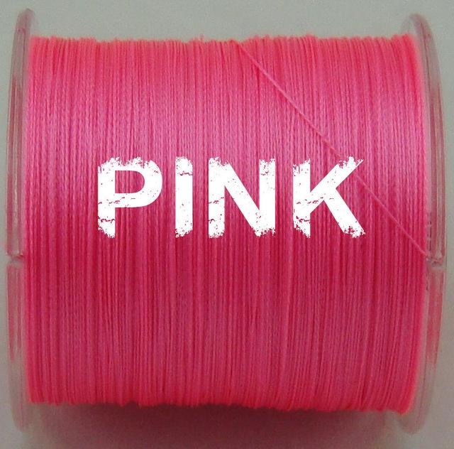 500M Linethink Multifilament Pe Braided Fishing Line 6Lb To 120Lb-LINETHINK official store-Pink-0.4-Bargain Bait Box