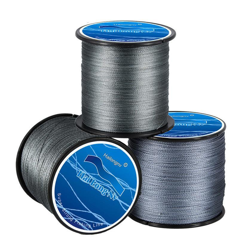 500M Pe Braided Fishing Line 4 Strands Braid Wires Line Rally Test 8 To 100Lb-Sports fishing products-Yellow-0.4-Bargain Bait Box