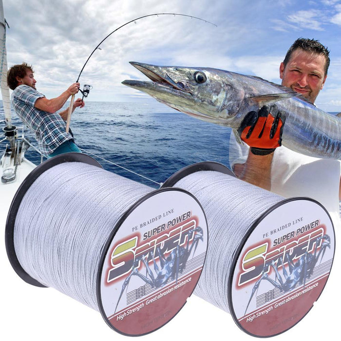 500M Pe Braided Fishing Line Gray Weaving Super Strong Wire 4 Strands 8Lb 10Lb-Dreamland 123-0.6-Bargain Bait Box