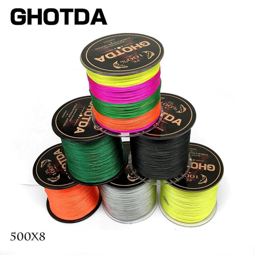 500M Pe Fishing Line 8 Strands Multifilament Braided Fish Line Ocean Carp-Every day outdoor international company-White-1.0-Bargain Bait Box
