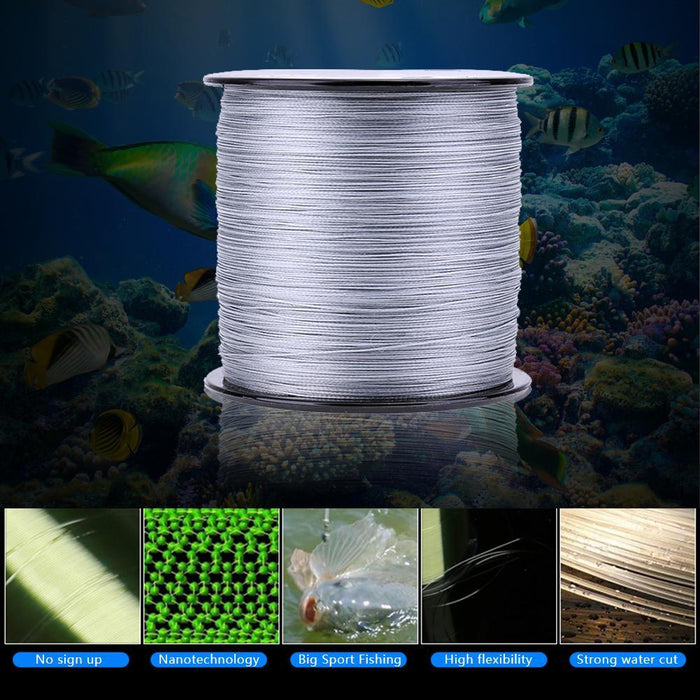 500M Pe Weaving Strong Line 8 Strands Multifilament Wide Sea Braided Fishing-Traveling Light123-2.5-Bargain Bait Box