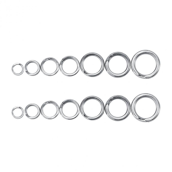 50/100Pcs Stainless Steel Fishing Split Ring For Blank Lures Bait 3-8.46Mm-Outdoor Exercise Items Store-4 50pcs-Bargain Bait Box