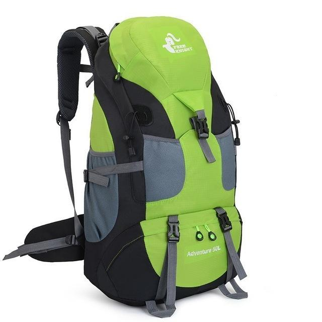 50L Camping Backpack Hiking Waterproof Trekking Bag Man/Woman Outdoor Travel-Climbing Bags-Outdoor Explorer Club Store-Green-China-Bargain Bait Box