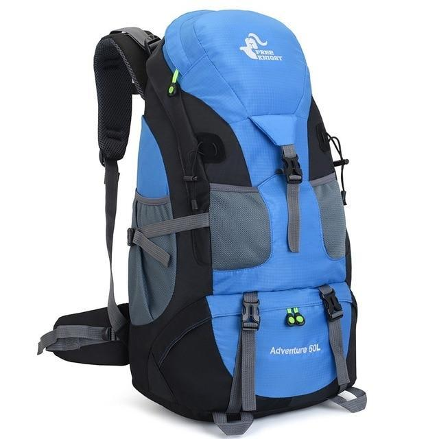 50L Camping Backpack Hiking Waterproof Trekking Bag Man/Woman Outdoor Travel-Climbing Bags-Outdoor Explorer Club Store-Light Blue-China-Bargain Bait Box