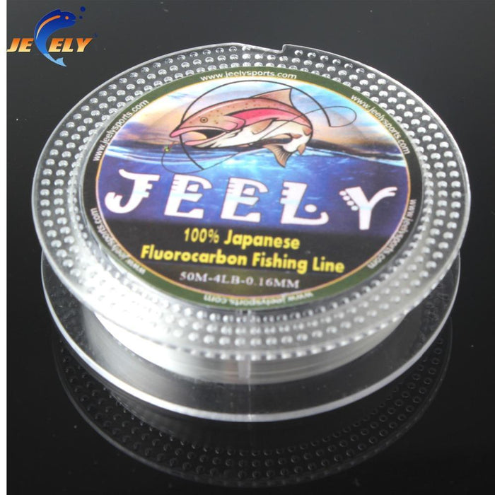 50M 100% Japanese Fluorocarbon Material Leader Fishing Line 10Lb 12Lb 14Lb-jeely Official Store-2.0-Bargain Bait Box