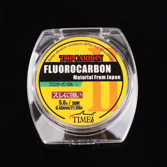 50M 4.4-35.2Lb Fluorocarbon Fishing Lines High Quality Carbon Fiber Fly-AGEPOCH Fishing Tackle Co., Ltd.-0.8-Bargain Bait Box