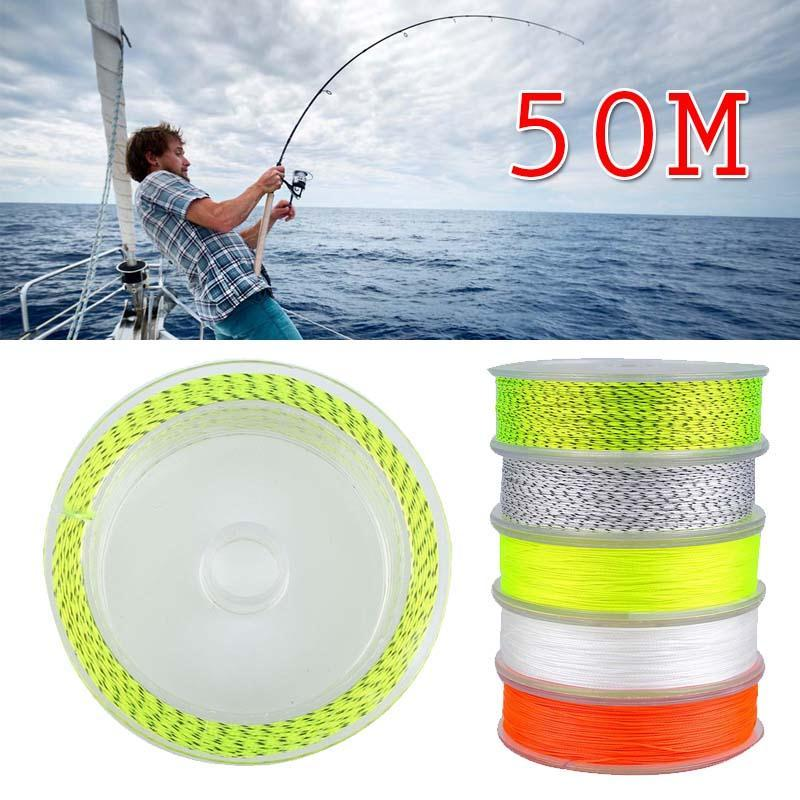 50M Braided Backing Line 30Lb Line High Quality Fishing Tackle Tool 5-Colors-Sports Museum Home-White-Bargain Bait Box