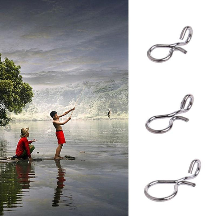 50Pcs Fly Fishing Snap Quick Change Hook Lure High Carbon Steel Tackle Accessory-Sexy bus-Size L-Bargain Bait Box