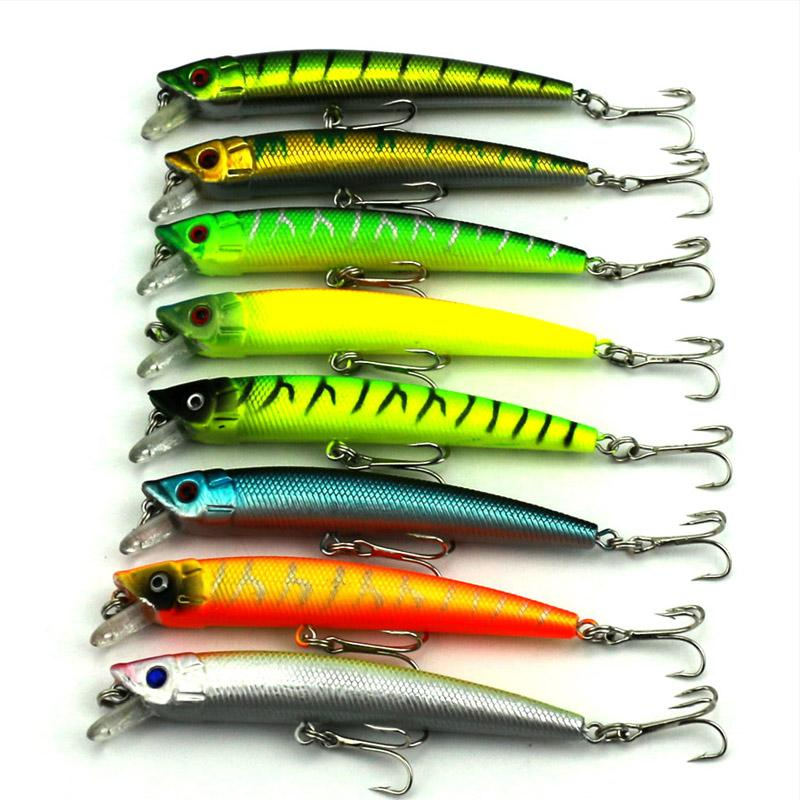 50Pcs Hard Minnow 9.5Cm 7.3G 6#Hooks Hard Bait Stick Bait Bream/Trout Bait-Stick Baits-Bargain Bait Box-Bargain Bait Box