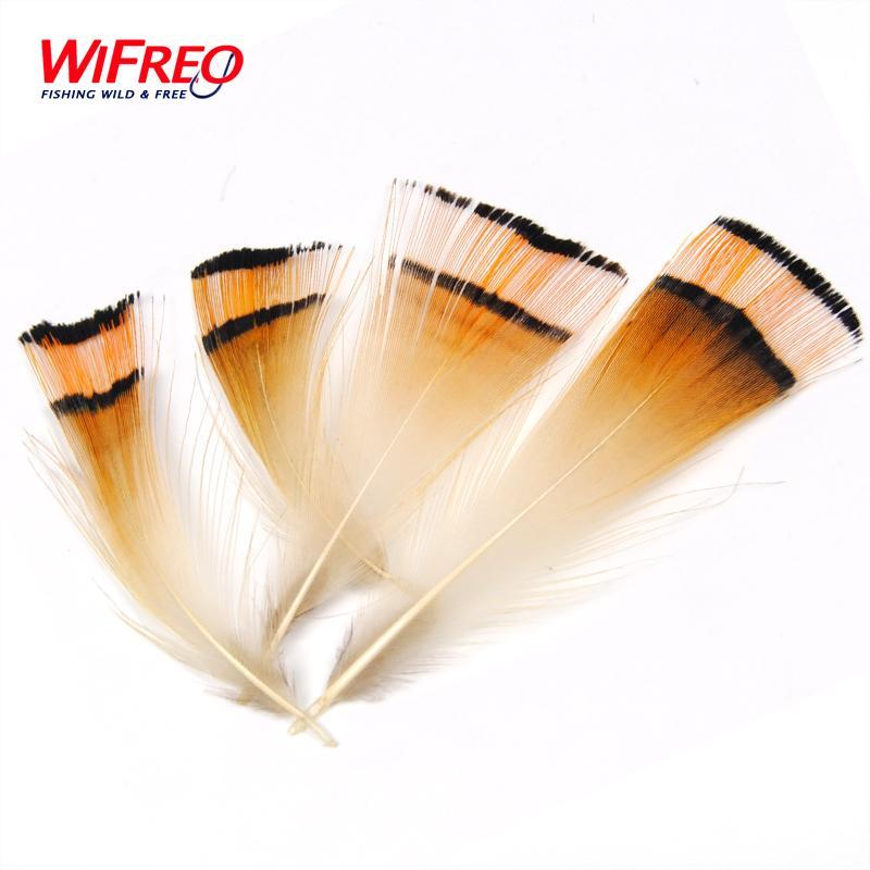 50Pcs Natural Color Golden Pheasant Head Crest Feather Fly Tying Coachman-Fly Tying Materials-Bargain Bait Box-Bargain Bait Box