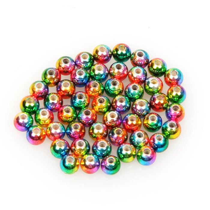 50Pcs/Lot Tungsten Fly Tying Beads Red Green Rainbow Fly Fishing Nymph Head Ball-AnglerDream Store-20G-Bargain Bait Box