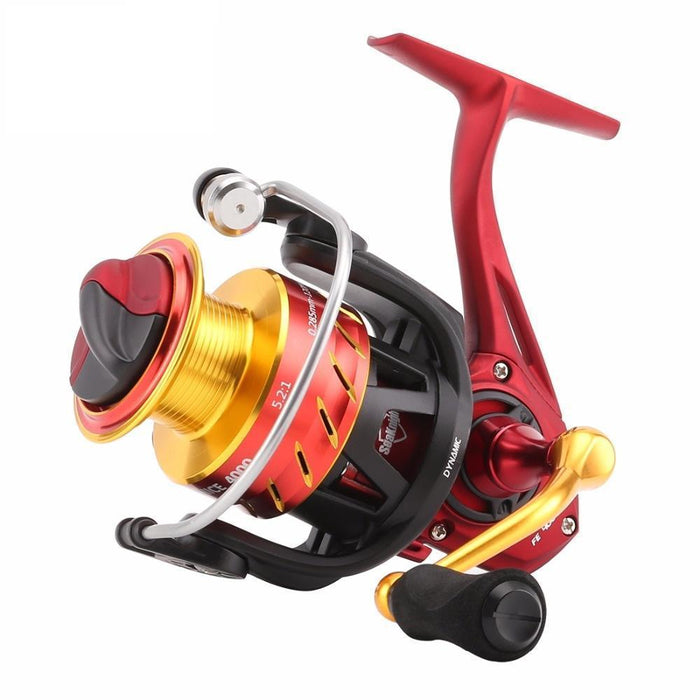 5.2:1 Fishing Reel Spinning Reels 10 + 1 Ball Bearings Freshwater Fishing-Spinning Reels-Sequoia Outdoor (China) Co., Ltd-2000 Series-Bargain Bait Box