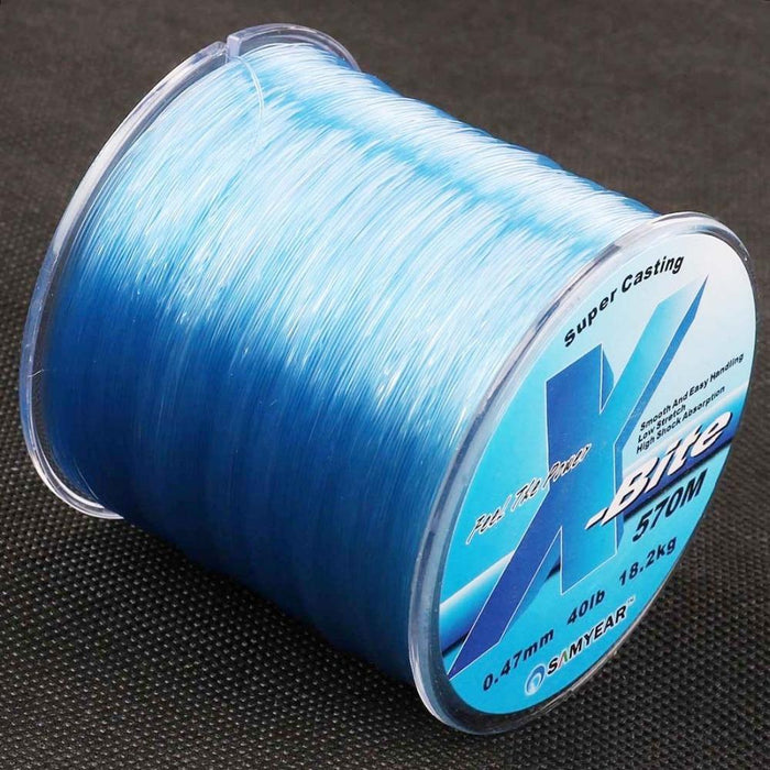 570M 40Lb 0.47Mm Super Strong Nylon Line Rope Clear White Blue Jip Carp-AGEPOCH Fishing Tackle Co., Ltd.-White-Bargain Bait Box