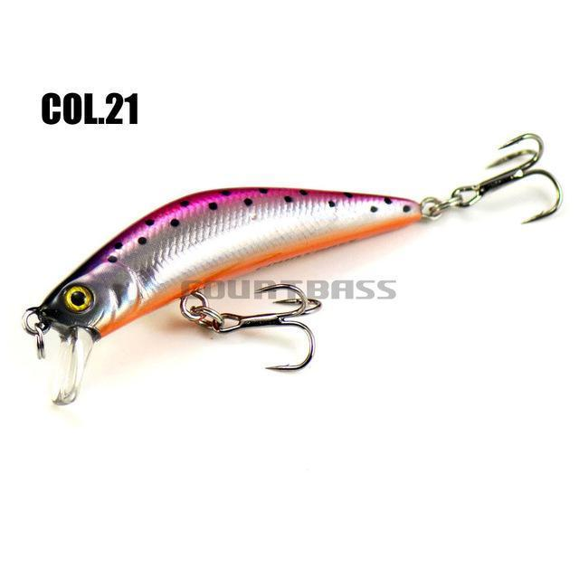 57Mm 4.8G Minnow Fishing Lures Hardbaits, Countbass Freshwater Crappie Fishing-countbass Official Store-Col 21-Bargain Bait Box