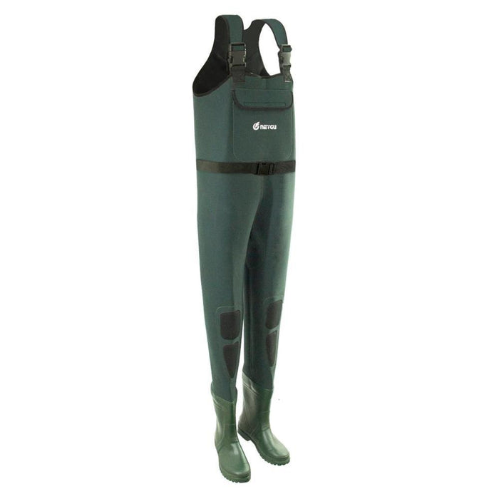 5Mm Neoprene Cold Water Men & Women Waterproof And Insulated Chest Waders With-Chest Waders-IMHANITE Official Store-Green-S-8-Bargain Bait Box