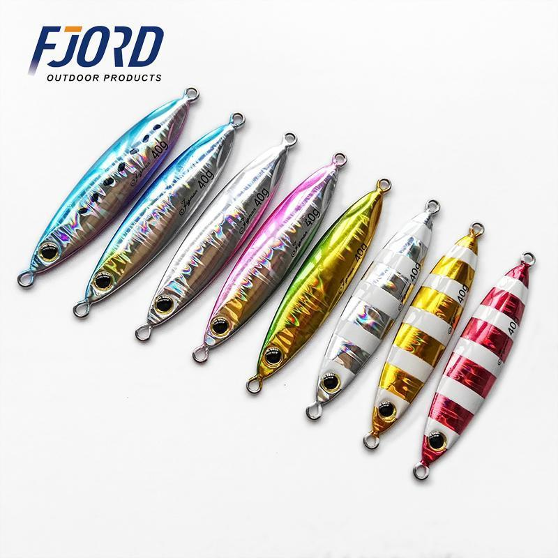 5Pcs 20G30G40G60G Slow Shake Metal Jigging Fishing Spoon Iron Plate Long Shot-FJORD Fishing Store-20g 5pcs-Bargain Bait Box