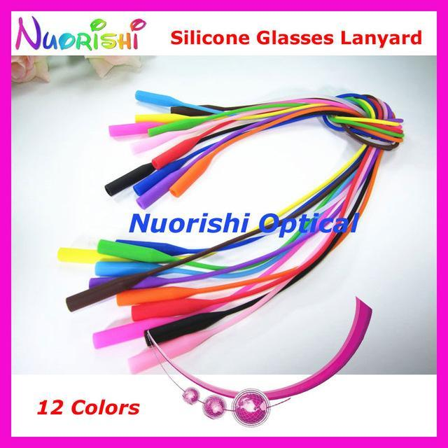 5Pcs L609 12 Colors Round Head Design Elastic Silicone Anti-Slip Eyeglass-Sunglass Accessories-Bargain Bait Box-Mix Colors-Bargain Bait Box