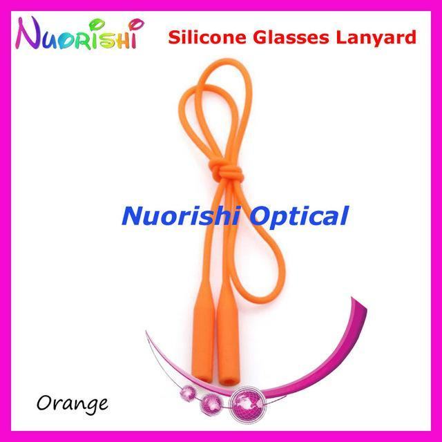 5Pcs L609 12 Colors Round Head Design Elastic Silicone Anti-Slip Eyeglass-Sunglass Accessories-Bargain Bait Box-Orange only-Bargain Bait Box