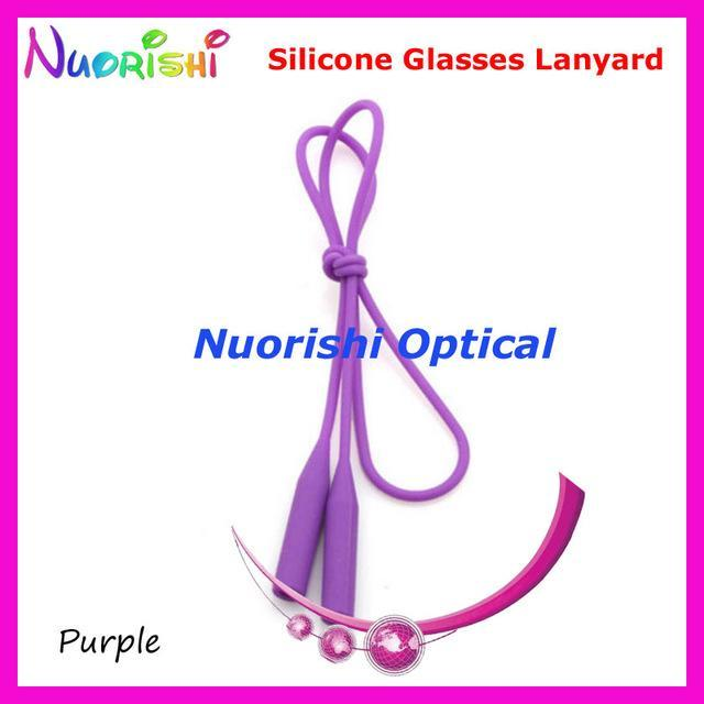 5Pcs L609 12 Colors Round Head Design Elastic Silicone Anti-Slip Eyeglass-Sunglass Accessories-Bargain Bait Box-Purple only-Bargain Bait Box