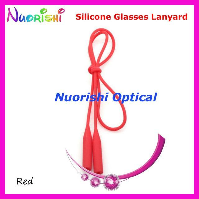 5Pcs L609 12 Colors Round Head Design Elastic Silicone Anti-Slip Eyeglass-Sunglass Accessories-Bargain Bait Box-Red only-Bargain Bait Box