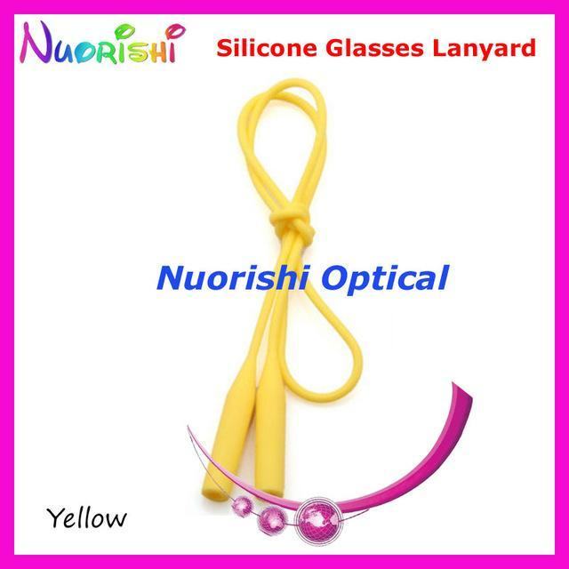 5Pcs L609 12 Colors Round Head Design Elastic Silicone Anti-Slip Eyeglass-Sunglass Accessories-Bargain Bait Box-Yellow only-Bargain Bait Box