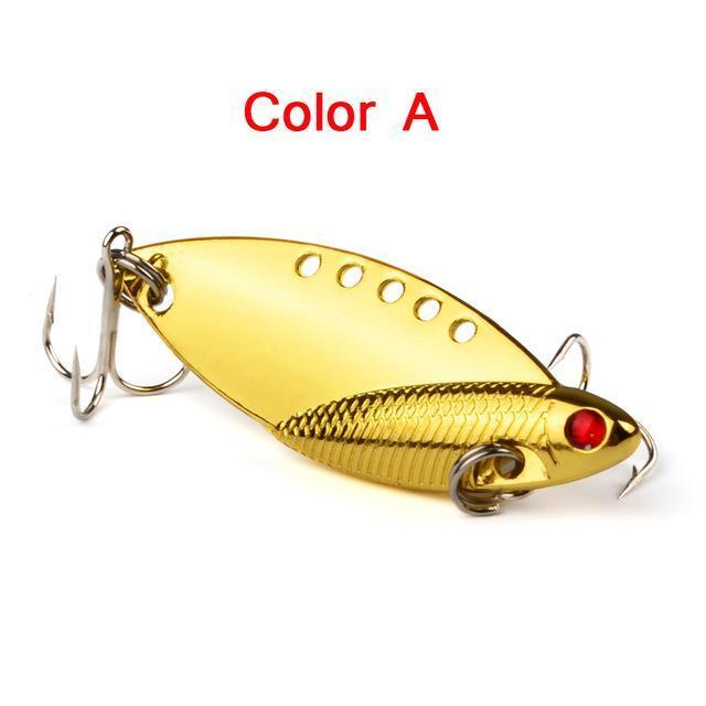5Pcs Mixed Model Metal Vib Lures 5Cm 10G Vibrations Spoon Lure Fish Bait Bass-weihefishing Water Trip Fishing Store-01-Bargain Bait Box