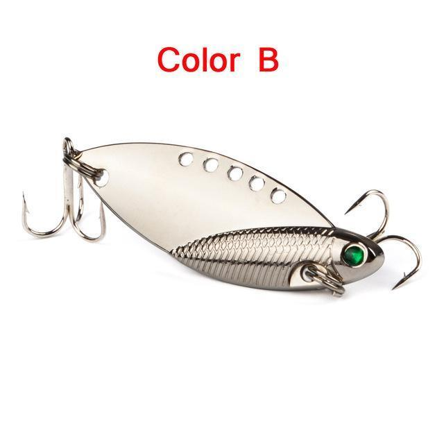 5Pcs Mixed Model Metal Vib Lures 5Cm 10G Vibrations Spoon Lure Fish Bait Bass-weihefishing Water Trip Fishing Store-02-Bargain Bait Box