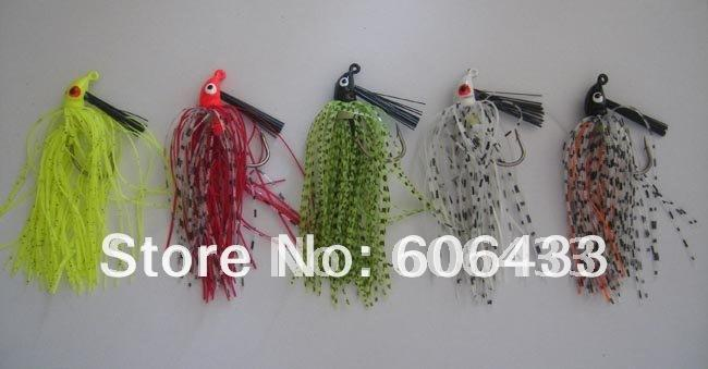 5Pcs Rocketb Barbed Wire Jig Hook Bass Baits 9G, 8.5Cm-Bass Jigs-Bargain Bait Box-Bargain Bait Box