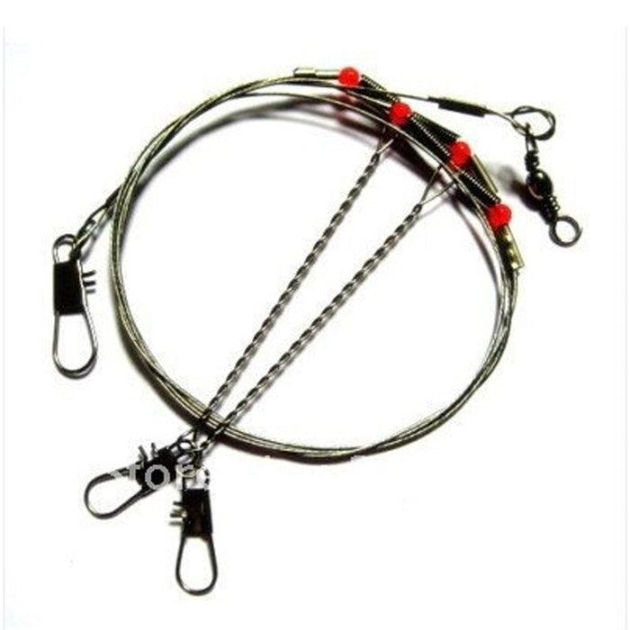 5Pcs/10Pcs/20Pcs/Pack Arms Stainless Steel Fishing Wire Leader Arms With Rigs-Agreement-10 Pcs-Bargain Bait Box