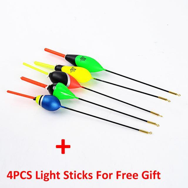 5Pcs/Lot 1G-5G Day Night Fishing Float With 4Pcs Glow Light Stick For Free-Glow Floats-Bargain Bait Box-3471050-Bargain Bait Box