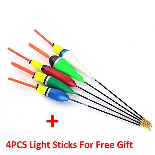 5Pcs/Lot 1G-5G Day Night Fishing Float With 4Pcs Glow Light Stick For Free-Glow Floats-Bargain Bait Box-3472050-Bargain Bait Box
