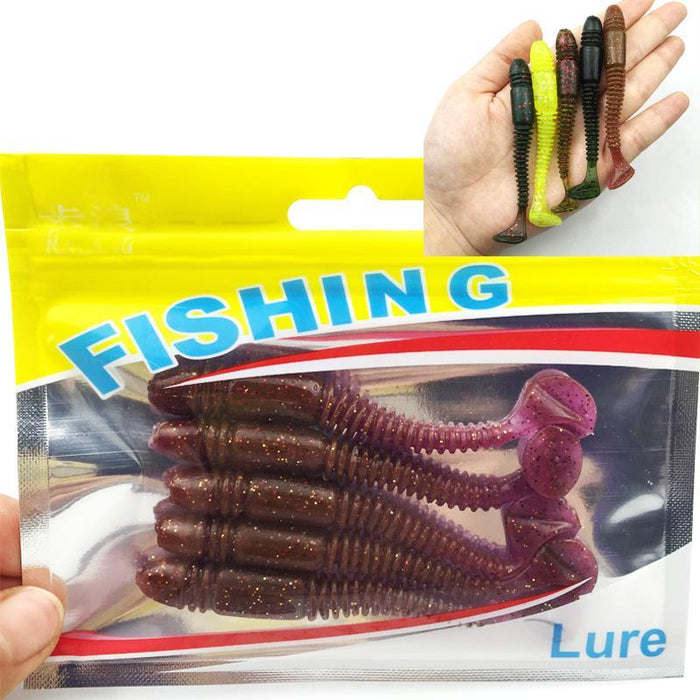 5Pcs/Lot Est Soft Fishing Lures Bait 8.5Cm 4.85G Smell Artificial Bait 088-Dreamer Zhou'store-color A-Bargain Bait Box