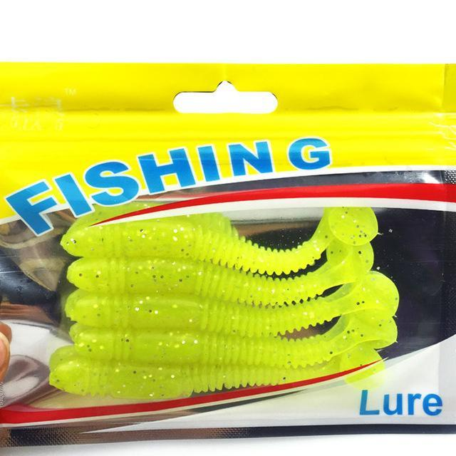 5Pcs/Lot Est Soft Fishing Lures Bait 8.5Cm 4.85G Smell Artificial Bait 088-Dreamer Zhou'store-color B-Bargain Bait Box