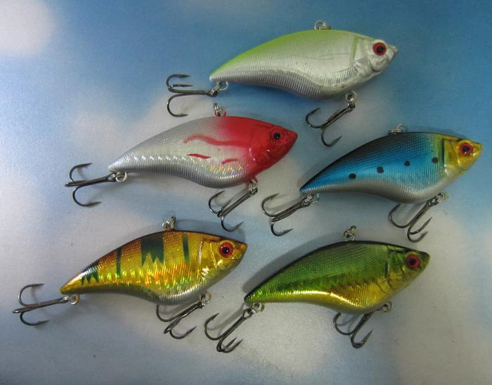 "5Pcs/Lot Fishing Sinking Vib Lure Rattle Hook Baits 16G 7Cm 2.75"" Fishing Tackle-Lipless Baits-Bargain Bait Box-Bargain Bait Box"