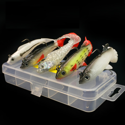 5Pcs/Lot Lushazer Soft Bait 9.3G 14G Fishing Lures Iscas Artificiais Para-LUSHAZER Official Store-Bargain Bait Box