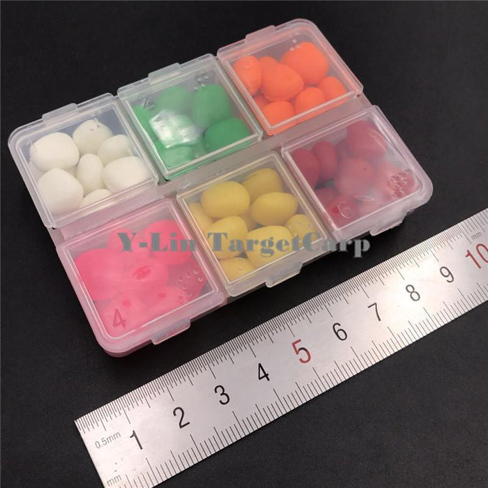 60 Pcs Carp Fishing Corn Assorted In 1 Box 6 Colors Floating Artifical Pop Up-Y-LIN TargetCarp Store-Bargain Bait Box