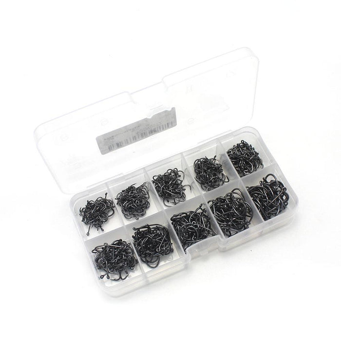 600 Pcs/Lot Carbon Steel Multisize Fishing Barbed Hook Fishing Hook Jig Head-Enjoying Your Life Store-Bargain Bait Box