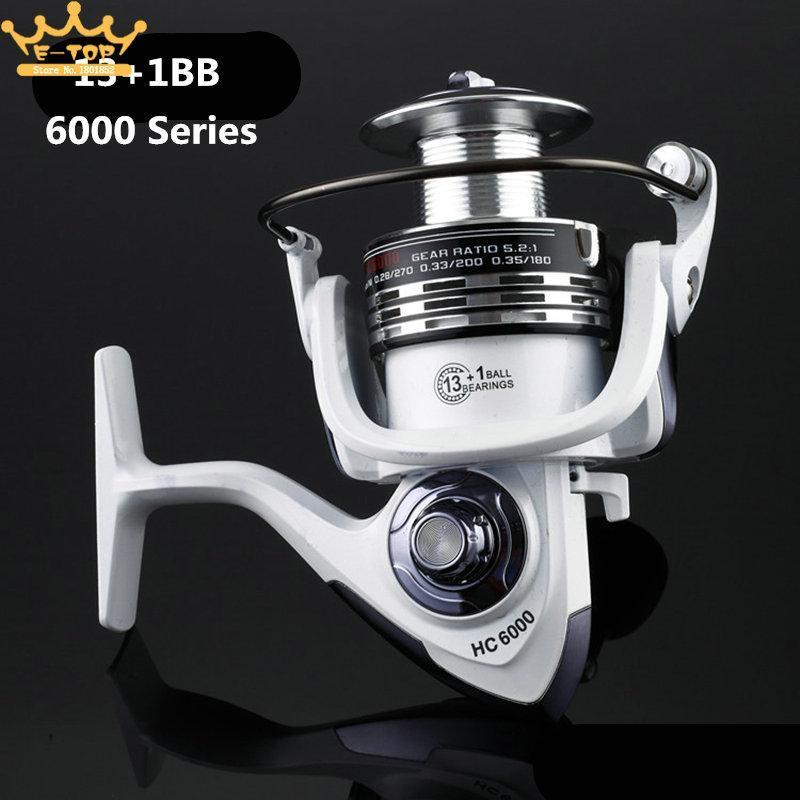 6000 Series 13+1 Ball Bearings 5.2:1 Fishing Reel Tackle Reel Fishing Spinning-Spinning Reels-LoveSport Store-Bargain Bait Box