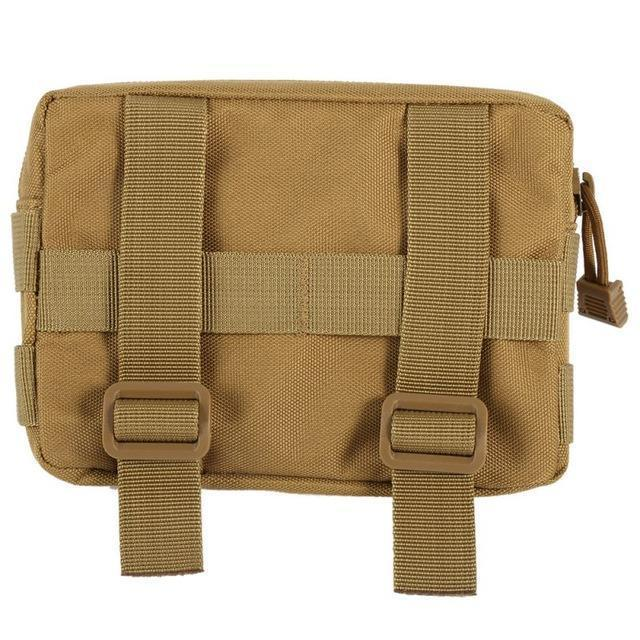 600D Nylon Airsoft Tactical Military Modular Molle Small Utility Pouch Edc Bag-Bags-Bargain Bait Box-khaki-Bargain Bait Box