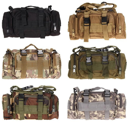 600D Waterproof Oxford Fabric Climbing Bags Military Tactical Waist Pack Molle-Bags-Bargain Bait Box-Black-Other-Bargain Bait Box
