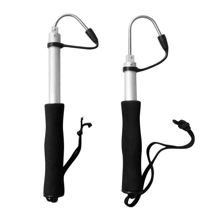 60Cm Or 120Cm Stainless Steel Sea Telescopic Fishing Gaff Aluminum Alloy Spear-Shenzhen Chase's Stylish Fishing & Riding Store-60cm-Bargain Bait Box