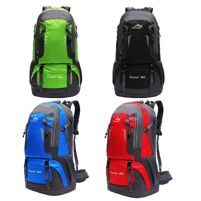 60L Waterproof Oxford Outdoor Backpack Super High Quality Camping Backpacks-gigibaobao-Black Color-Bargain Bait Box